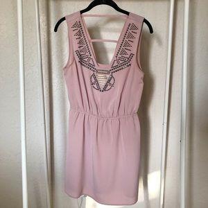Pink Dress Metal Detail